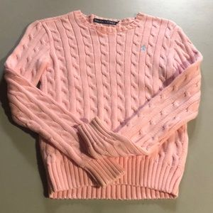 Womens xs pink polo sweater